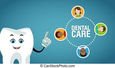 Teeth cartoon and dental hygiene HD animation - Tooth ...