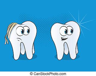 Teeth Cartoon Characters