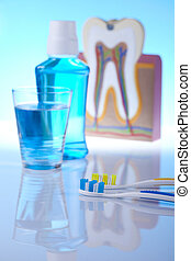 Teeth, Dental health care objects