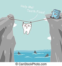 teeth floss saving teeth