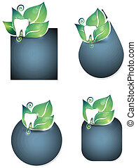 Teeth health care stickers