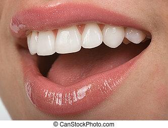 Teeth - Healthy teen mouth