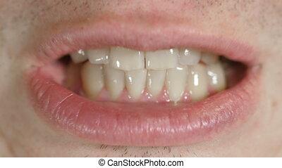 Teeth of a man