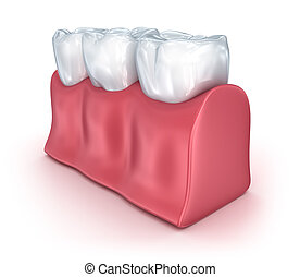 Teeth on white background. Concept icon. Medically accurate...