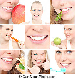 teeth, poster showing dental health for dentist surgery