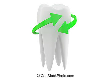 teeth protection concept, 3D rendering