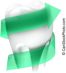 Teeth protection concept.