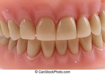 teeth prothesis background - teeth prothesis texture as nice...