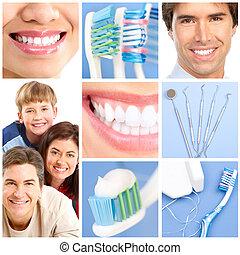 dental care - teeth whitening, tooth brushing, dental care