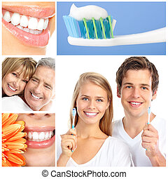 dental care - teeth whitening, tooth brushing, dental care