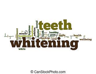 teeth, whitening, woord, wolk