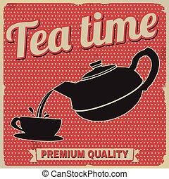 teezeit, retro, plakat