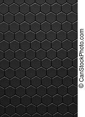 teflon, 黒い背景, ハチの巣