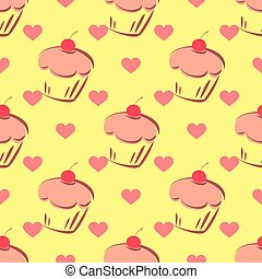 tegel, model, vector, cupcake