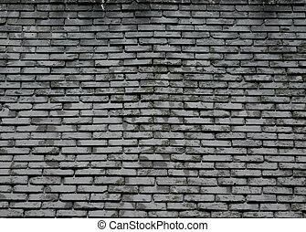 tegelpanna, griffeltavla tak, grå, struktur