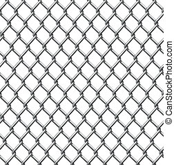 tegelpanna, tråd, seamless, staket