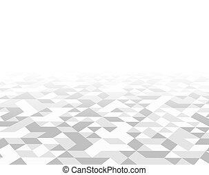 tegels, driehoek, model, illustratie, achtergrond., witte , textuur, 3d