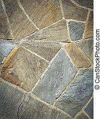 tegels, knippen, zandsteen, steen