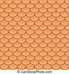 tegels, seamless, dak