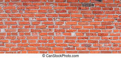 tegelsten, bakgrund, struktur, vägg
