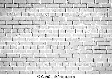 tegelsten, bakgrund, vita vägg