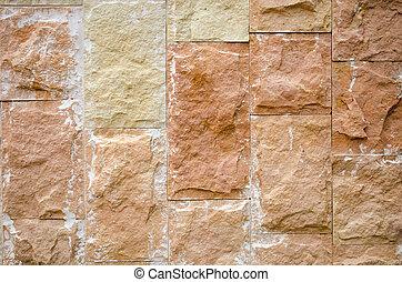 tegelsten, keramisk, dekorativ, bakgrund, vägg