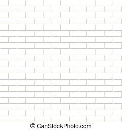 tegelsten, seamless, vägg, texture., bakgrund., vit