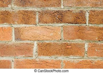 tegelsten, struktur, gammal, bakgrund, vägg