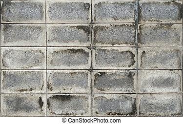tegelsten, struktur, mönster, gammal, vägg, konkret, bakgrund.