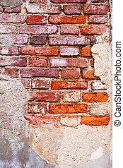 tegelsten vägg, struktur