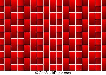 tegelstenar, röd