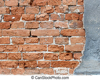 tegelstenar, vägg, bakgrund