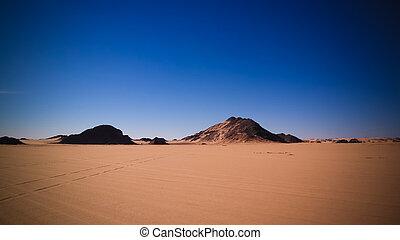 tegharghart, argelia, resumen, parque, formación, roca,...