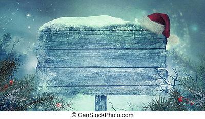 tegn, baggrund, år, nye, skinnende, jul