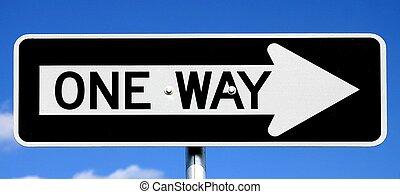 tegn, ene vej