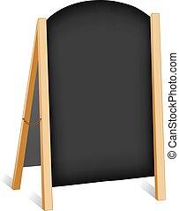 tegn, kridt, staffeli, folde, planke