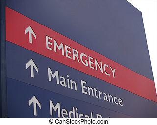 tegn, nødsituation