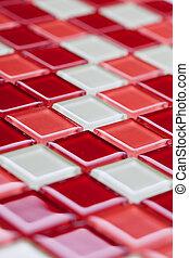 tegole, colorito, mosaico
