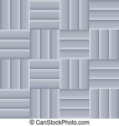 tegole, grigio, mosaico