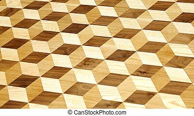 tegole, legno, 3d