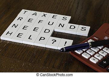 tegole, lettera, servizi, pubblicizzare, preparazione, usato, tassa