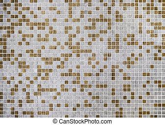 tegole parete, mosaico, fondo