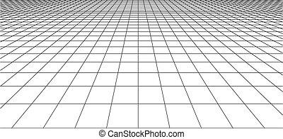 tegole, quadrato, prospettiva, checkered, pavimento