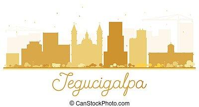 Tegucigalpa City Skyline golden silhouette. Vector...