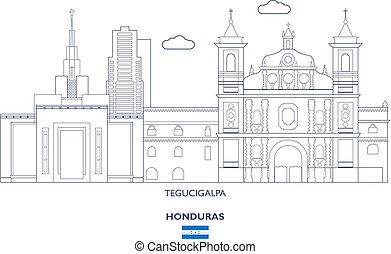 Tegucigalpa City Skyline, Honduras - Tegucigalpa Linear City...