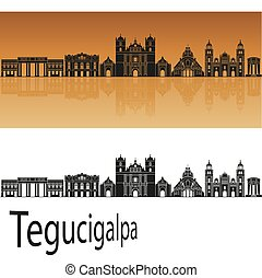 Tegucigalpa skyline - San Jose CR skyline in orange...