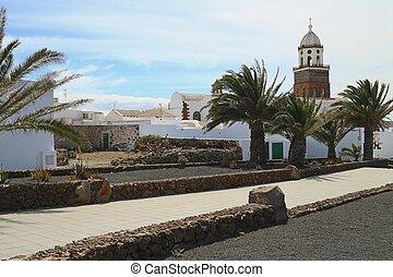 Teguise Street Scene 01 - Spanish Lanzarote island street...