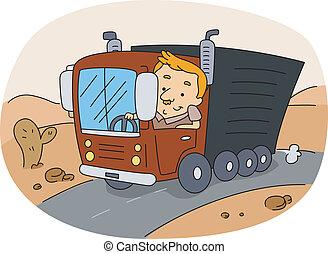 teherautó-sofőr
