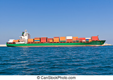 teherhajó, rév, kilépő