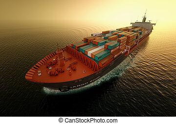 teherhajó, transportation.